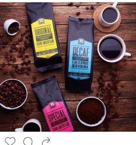 Кофе молотый, зерновой.