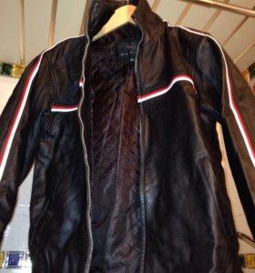 Куртка натуральная кожа на 10-12 лет