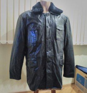 Куртка мужская зимняя из натуральной кожи новая