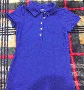 Синяя футболка поло ТВОЕ