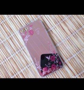 Чехол для iPhone 6/6s Цветы-розовый