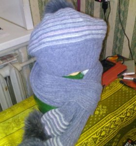 продам комплект шапка и шарфик