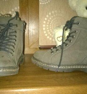 Ботинки зимние 37 размер б/у