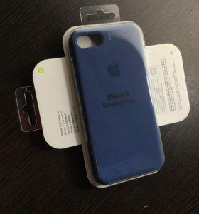 Чехол для 7 айфона цвет - глубокий синий