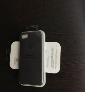 Чехлы для iPhone 7 - какао и синий (silicone case)