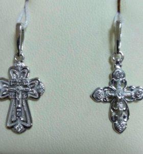 Золотые крестики с бриллиантами