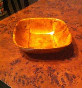 Тарелочка из бамбука