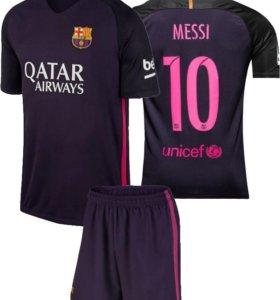 Форма детская фк Барселона 2016-17 гостевая