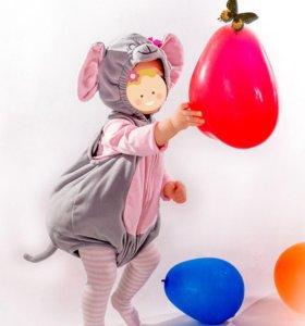 Маскарадный новогодний для фотосессии костюм мышки
