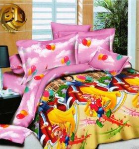 Белоснежка и Буратино  - постельное белье детское