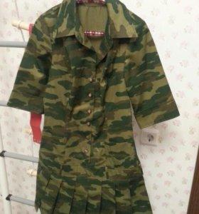 Платье военной расцветки
