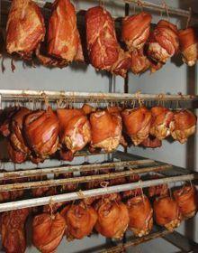 Горячее копчение мяса,сала