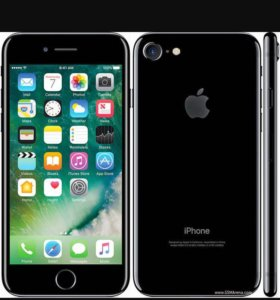 i phone 7 jet black  128 gb
