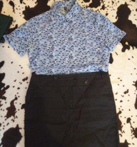 Юбка+рубашка, 48-50