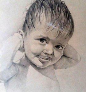Портрет по фото в Черкесске