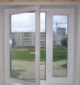 Окно с установкой, стандартное под ключ