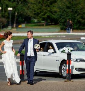 Авто на свадьбу и торжества белый бмв5
