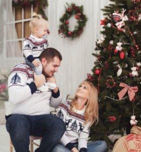 Комплект свитеров для семьи