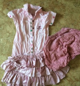 Одежда 2 юбки, рубашка, красивая блузка 5-8