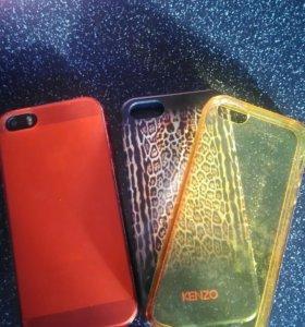 3 Чехла для IPhone5s б/у