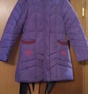Зимнее пальто р.134-140
