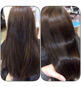 Полировка волос+увлажнение