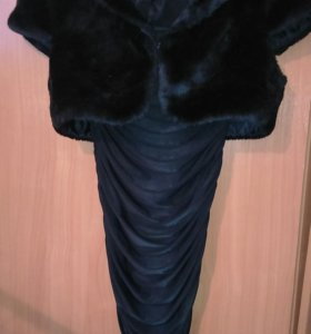 Платье резинка и шубка