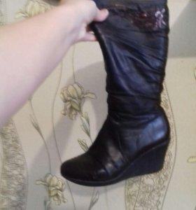 Зимния обувь шоколадного цвета
