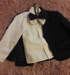 Пиджак ,рубашка и бантик
