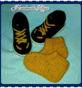 Вязанные ботиночки для мальчика