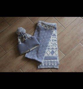 Зимний набор: шапка+шарф