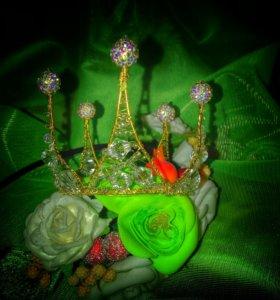 Корона с бусинками шамбала