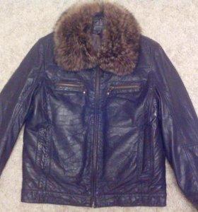 Куртка зимняя натуральная мех волка