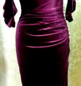 Платье ткань бархат
