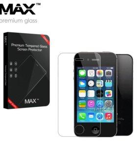 Защитное стекло MAX™ iPhone 4/4s (только перед)