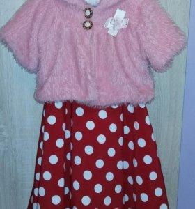 Платье для девочки+шубка