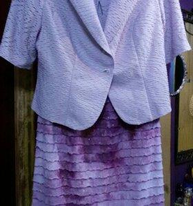 Платье и жакет 48-50 размер
