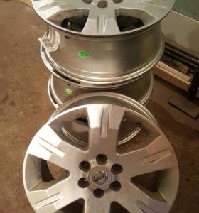 Орегинальные литые диски на Ниссан Патфайдер