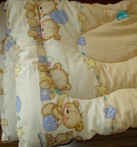 Утепленные одеяла,бортики,постельное бельё и др...