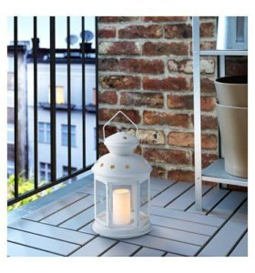 ИКЕА фонарь-подсвечник для формовой свечи, белый