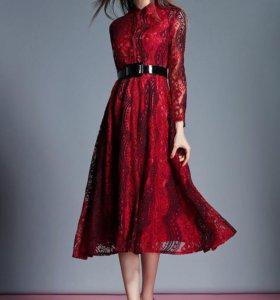 Кружевное платье XS новое