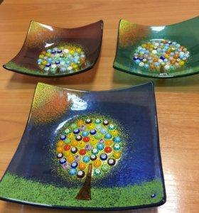 Декоративная тарелка Муранское стекло