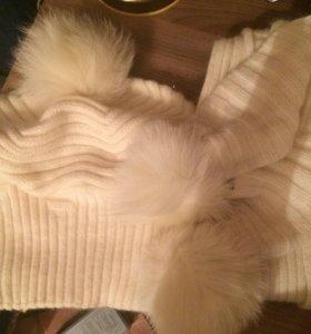 Шапка и шарф зимние