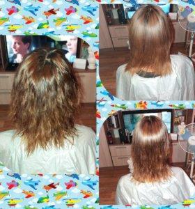 Кератиновое выпрямление волос для