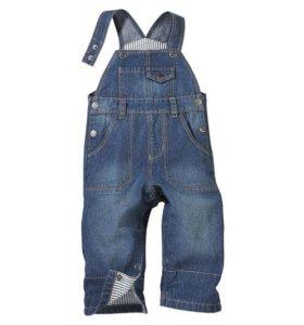 Новые джинсовые комбинезоны Lupilu