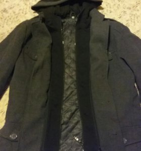 Мужкое пальто с капюшоном