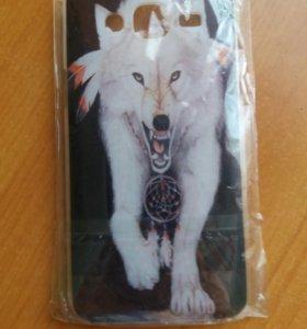 Чехол (белый волк) для Samsung.