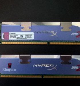 Память dimm DDR2 1Gbx2 PC8500 1066MHz Kingston