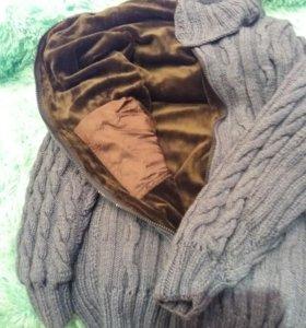 Вязанное пальто новое!!торг