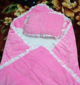 Бортики с балдахином и одеялом